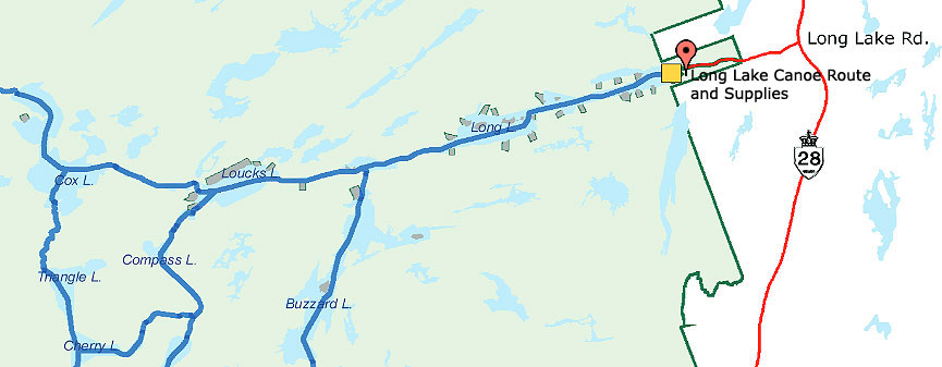 Long Lake Canoe Route and Supplies