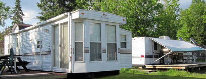 Luxurious units at trailer park